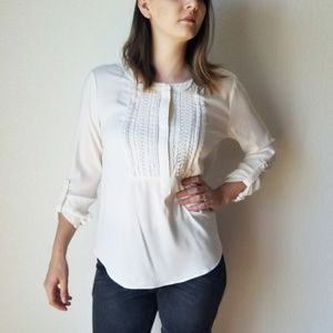 NWT Stitch Fix 41 Hawthorn White Peasant Blouse  M